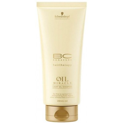 BonaCure Oil Miracle Light Shampoo 200 ml - hennoille hiuksille
