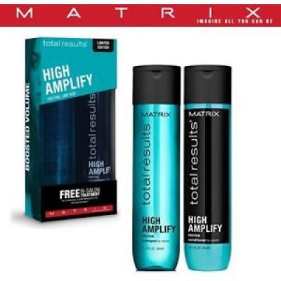 Matrix High Amplify lahjasetti - shampoo 300 ml ja hoitoaine 300 ml veltoille hiuksille