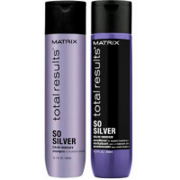 Lahjapaketti Matrix So Silver Shampoo 300 ml ja So Silver hoitoaine 300 ml