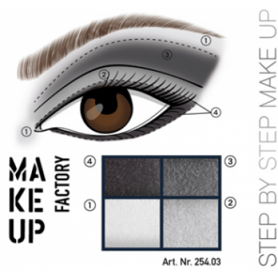 MAKE UP FACTORY Eye Colours luomiväripaletti 03 Mystic Mood