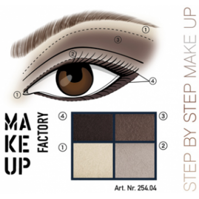 MAKE UP FACTORY Eye Colours luomiväripaletti 04 Dim Greige