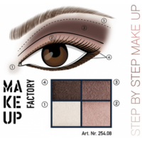 MAKE UP FACTORY Eye Colours luomiväripaletti 08 Pearly Cinnamon